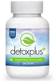 Bottle of Detox Plus Colon Cleanse Supplement.