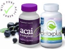 100% Pure Acai Berry and DetoxPlus Combo Pack.