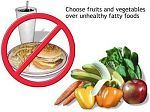 Choose fruits and vegetables over unhealthy fatty foods that cause constipation.