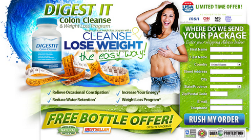 Digest IT Colon Cleanser - Natural Body Cleanse & Weight Loss Program.