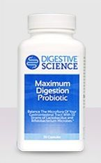 Bottle of Maximum Digestion Probiotic.