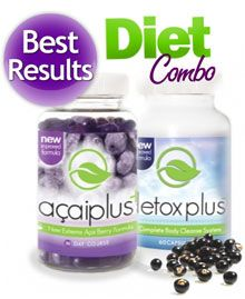 Acai Berry Detox - Best Results Weight Loss Combo.